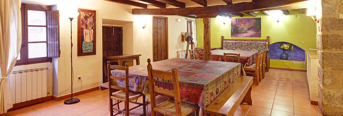 Molí Nou - Apartamentos rurales para grupos - Comedor para 30 personas máximo